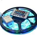 5 M 2835 Tira CONDUZIDA Impermeável 60 LEDs/M DC 12 V RGB Faixa + 24 Chave Controlador + Caixa De Controle RGB