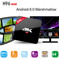 Lo nuevo H96 Pro S912 Octa Core Android TV Box Amlogic 6.0 OS 2 GB/16 GB Gigabit 2.4G/5.8G WiFi H.265 BT4.0 4 K Reproductor Multimedia H96 Pro
