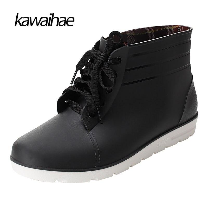Rubber Shoes Man Rain Boots Comfortable Black Man Boots 2017