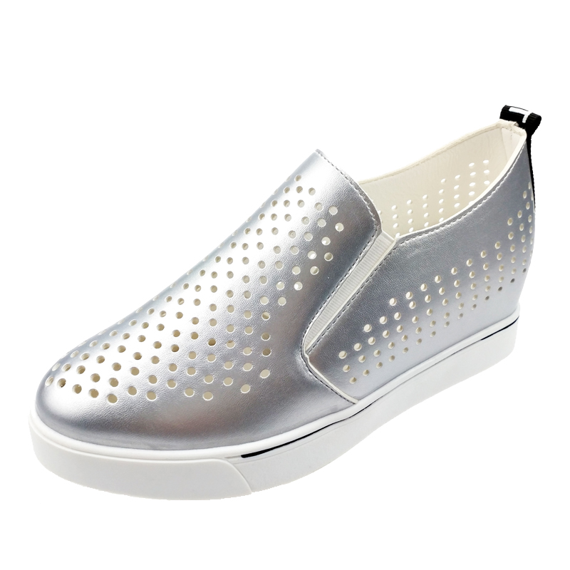 Womens Hollow Out Slip On Hidden Wedge loafers Casual Atheltic Sneakers shoes US