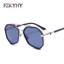 FZKYNY Luxury Brand Designer Classic Vintage Bohemian Sunglasses Women Colorful Lens Anti-Reflective UV400 Goggles