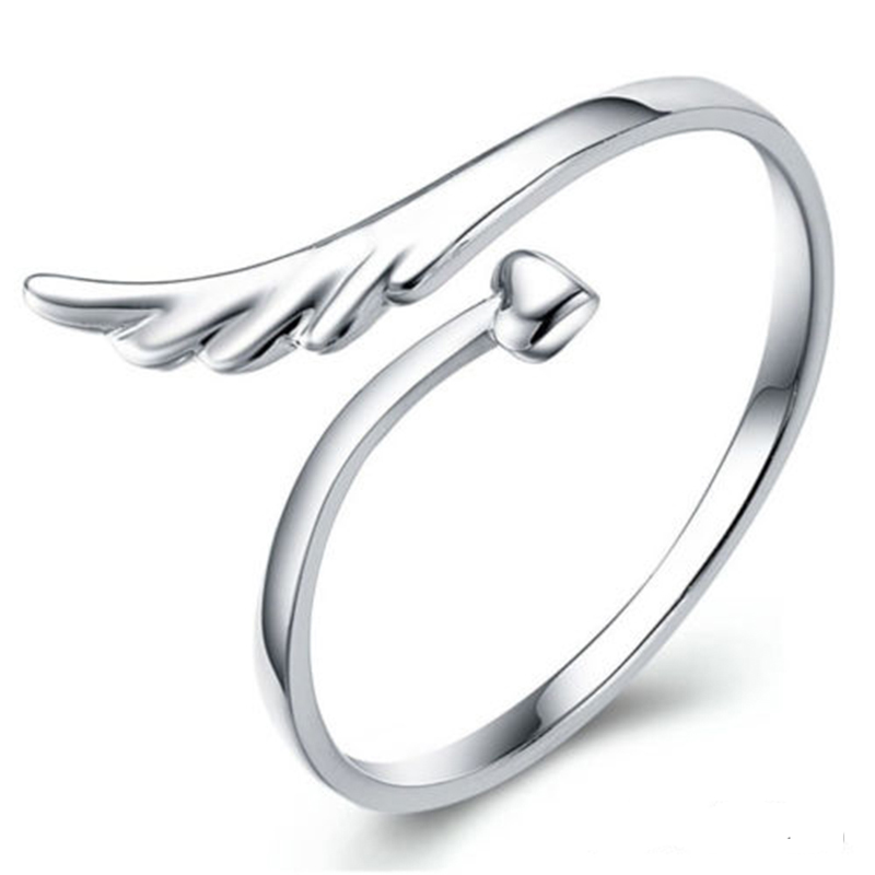 New Arrivals Fashion Jewellery Lady Ring Finger Opening Adjustable Angle Wing Hot