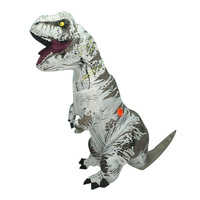 White Color Inflatable Dinosaur T REX Costumes Blowup T Rex Dinosaur Halloween Purim Costume Mascot Party Costume for Adult