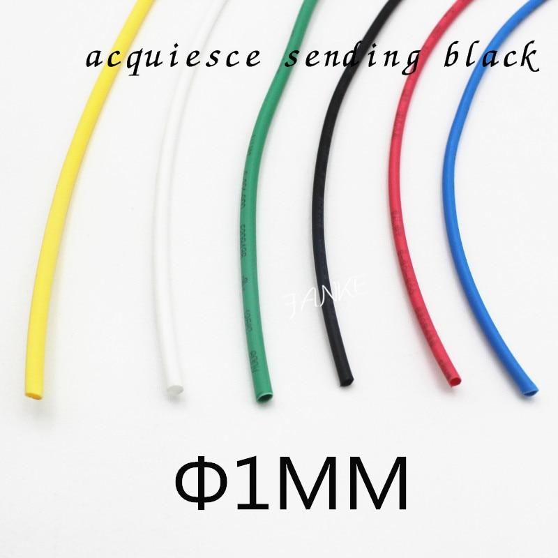 Meter lot mm inner diameter black heat shrink tube