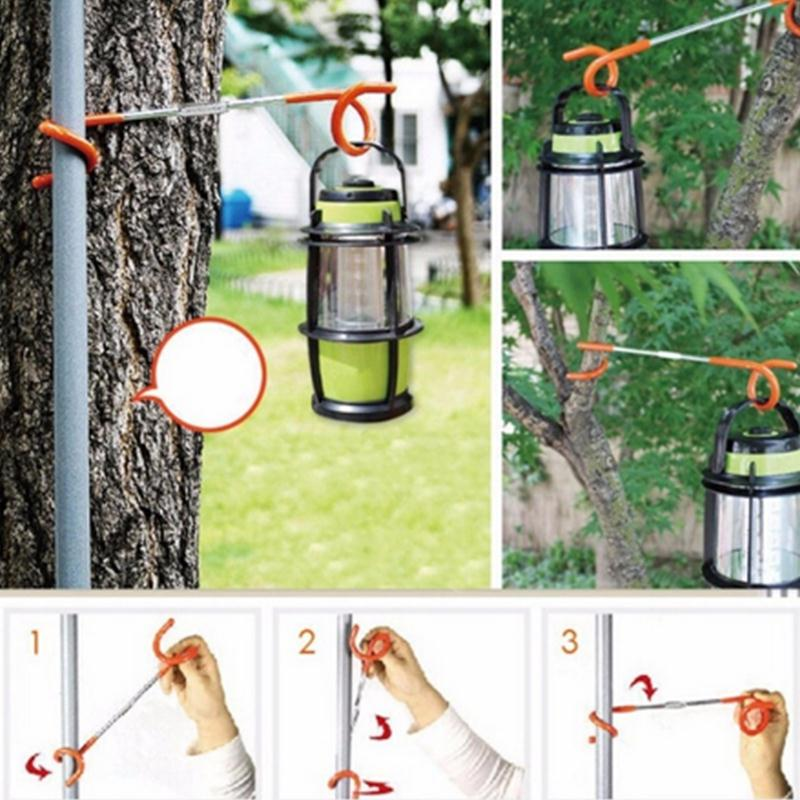 Forfar hot 1pc 2 way Lantern Light Lamp Hanger Tent Pole Post Hook for Outdoor Camping