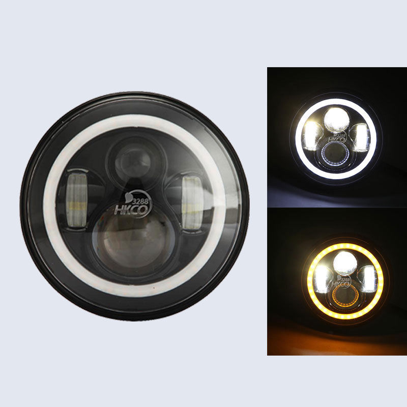 7 Halo Projector LED Daymaker Motorcycle Headlight For Harley Davidson Softail 1994 later FLD 2012 later Touring 1994 2013