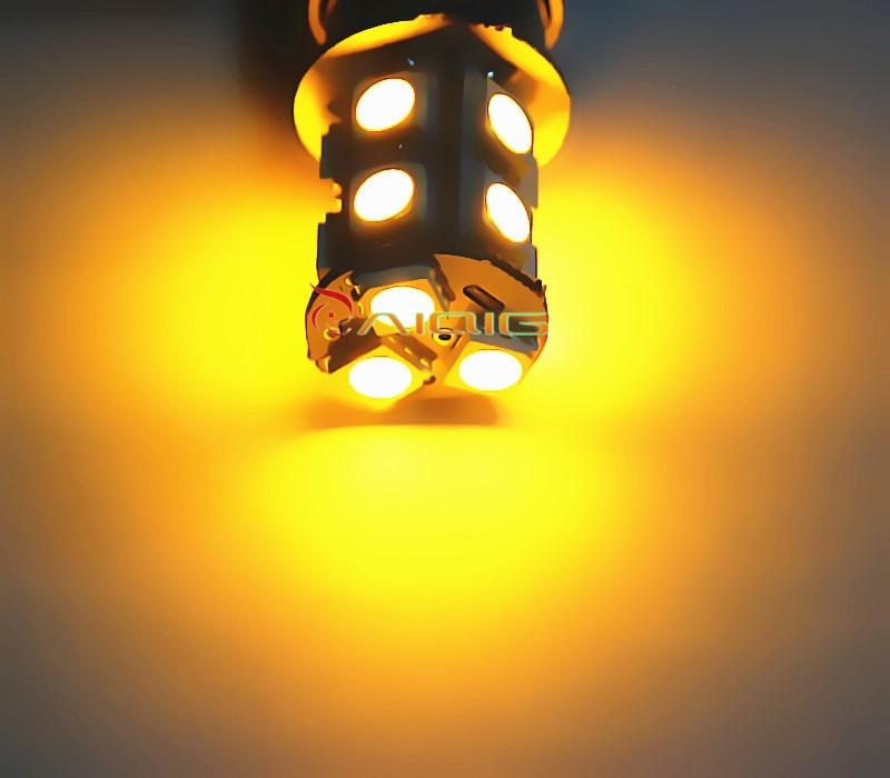 3156 3157 piros, fehér, borostyán sárga, 13 SMD 5050 LED-es - Autó világítás - Fénykép 2