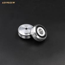 4PCS 30*13 Wavy silver aluminum Audio amplifier Speaker damping pads Computer machine feet