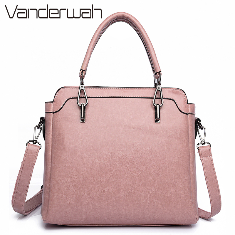 VANDERWAH PU Leather Ladies Hand Bags Women Shoulder Bag High Quality Designer Luxury Brand Commuter Office Ring Tote Bag Flap 2017 women handbags ladies leather commuter office tote bag high quality women bag
