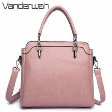 Vanderwah PU кожаные женские сумки Женщины Сумка Высокое качество дизайнер Элитный бренд пригородных офис кольцо, сумка клапаном