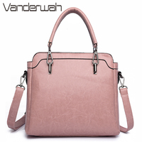 VANDERWAH PU Leather Ladies Hand Bags Women Shoulder Bag High Quality Designer Luxury Brand Commuter Office Ring Tote Bag Flap