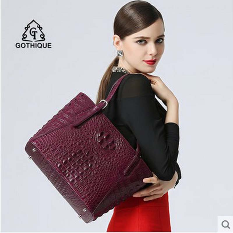 bb51232013ad Gete imported the new 2016 Thailand crocodile skin bag ladies fashionable  Europe and the United States leather shoulder bag ladi-in Shoulder Bags  from ...