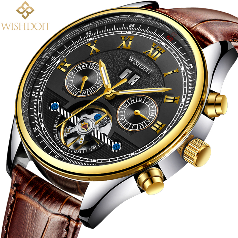 WISHDOIT New mens watches top brand luxury Fashion casual sports men business automatic mechanical watchs Men's watch Male clock luxury mens automatic mechanical watch men fashion casual business watches male stainless steel clock wristwatches reloj hombre