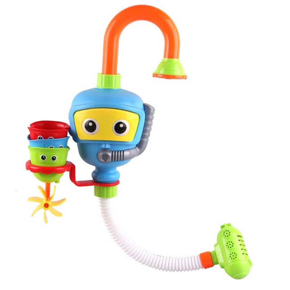 Bathtub Accessories Waterwheel Diver Clouds Shower Spray Water Play Game For Bath Bathroom Early Educational Toy Kids