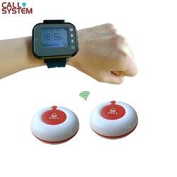 Restauracja kelner stronicowania bezprzewodowy system wywołujący 1 zegarek pager + 2 przycisk połączenia w Pagery od Komputer i biuro na