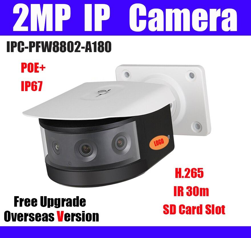 2MP POE Network camera IPC PFW8802 A180 4x2MP Multi Sensor IR 30m SD Card Slot H