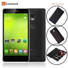 """Бесплатный флип чехол gooweel m13 плюс 4 г смартфон android 5.1 мобильный телефон mtk6735p quad core 5.0 """"экран HD 8MP GPS сотовый телефон"""