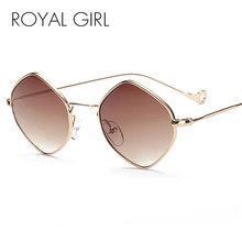 39a5754051600 Menina real Pequeno Losango Frame Da Liga de Óculos De Sol Para Homens Mulheres  Verão