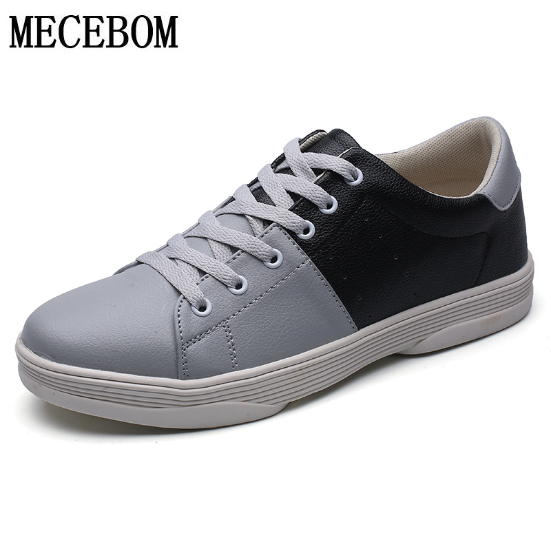 Men's Shoes new arrival pu breathable lace-up men casual shoes black gray flats chaussure homme size 39-44 c250 new stylish man shoes lace up round toe comfort breathable shoes for man casual flats loafers chaussure homme free shipping