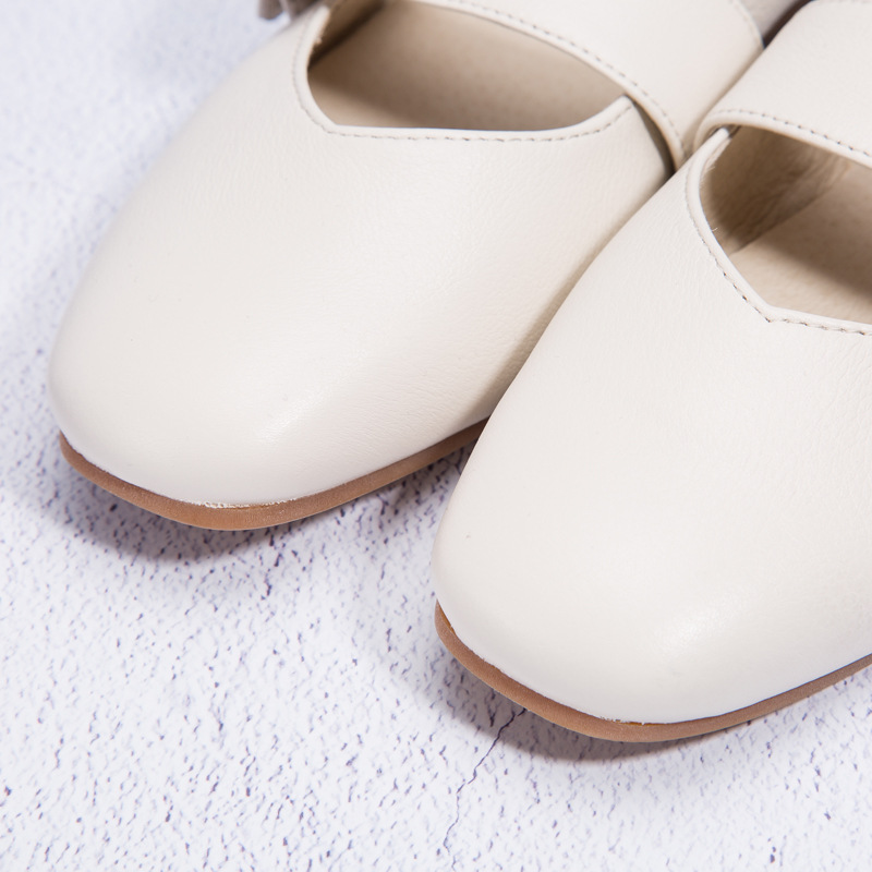Movland-Spring&summer 2018 new pure handmade Square toe products flat bottomed real leather women's fashion Casual shoes,2 color