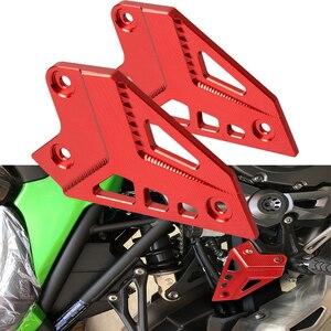 Image 3 - Motorcycle Accessories Heel Protective Cover Guard for Kawasaki Z900 2017 LOGO Foot Peg Protector Heel Protective Cover Guard