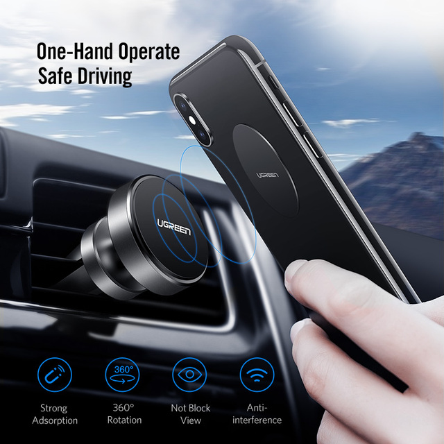 Ugreen Magnetic Phone Holder for iPhone X 8 Samsung S9 Plus Air Vent Mount Car Holder for Phone in Car Mobile Phone Holder Stand