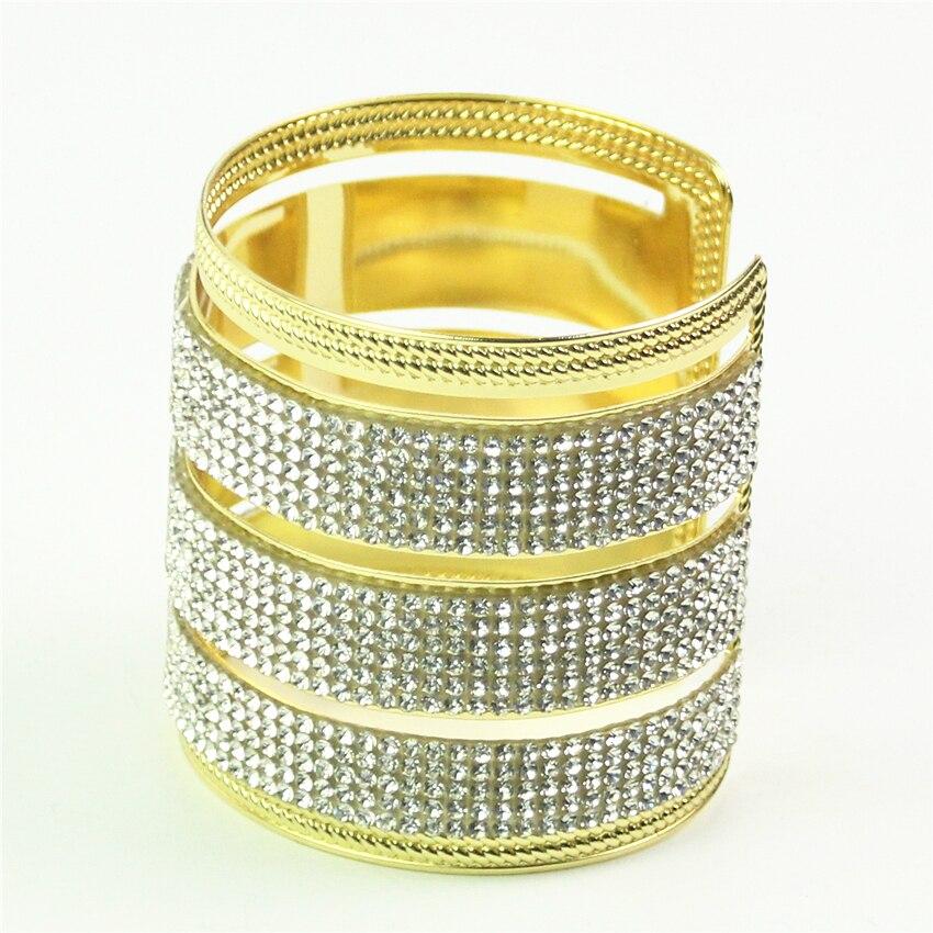 cuff bracelet femme jonc heart bracelets bangles rhinestone gold color carter love bracelet carter indian jewelry pulseiras