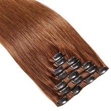 Snoilite шиньон 23 дюймов 180 г прямые 18 Зажимы в укладки волос 100% реальные Синтетические пряди для наращивания волос 8 шт./компл. Косплэй расширение
