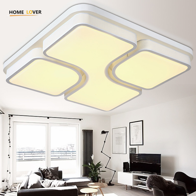 Modern led ceiling lights for living room bedroom lamparas de techo modern led light fixture ceiling lamp luminaire plafonnier modern led ceiling lights for home lighting plafon led ceiling lamp fixture for living room bedroom dining lamparas de techo