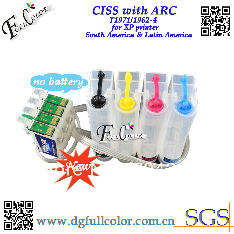 ФОТО Free shipping 2014 hot sell T1971 CISS for T1971 T1962-4 for xp101 xp201 xp211 xp214 xp401 workforce WF-2532 printer 5set a lots