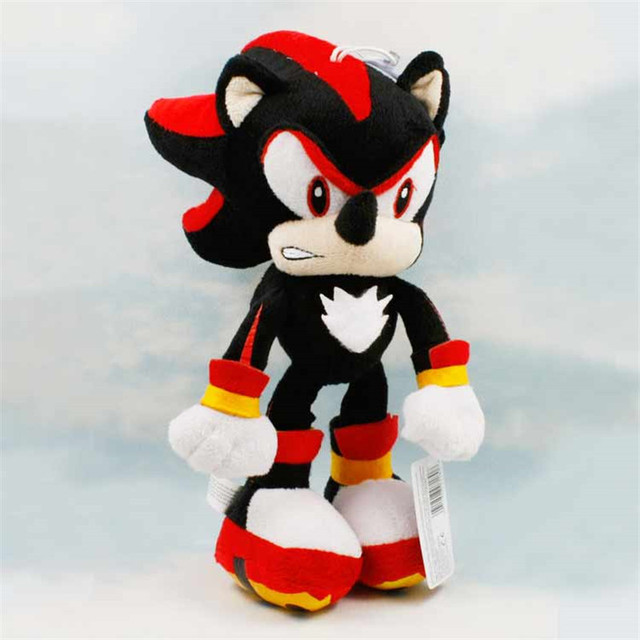 30cm 12inch Collection Games Black Sonic The Hedgehog Soft Stuffed Plush Toy Dolls