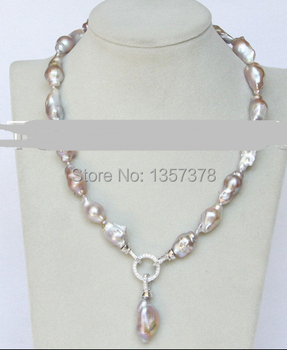 bjc 000157 AAA stylish Baroque 28mm purple Reborn keshi pearls necklace