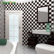 45cmX5m Waterproof Wall Paper Mosaic Tile Vinyl self adhesive Wallpaper for Bathroom Kitchen Wall Sticker Oil Heat Resistance недорого