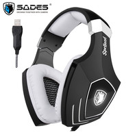 USB Gaming Headset SADES A60OMG Computer Over Ear Stereo PC Gamer Heaphones With Microphone Noise Isolating