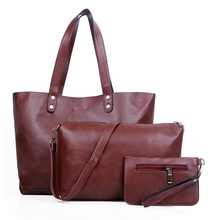 Casual High Quality Leather Bags New 2016 Design Women Handbags Vintage Women Shoulder Bags Large Tote Brown Women Bags hot N343