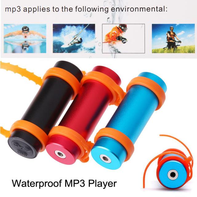 Built-in 8 GB IPX8 Impermeable Reproductor de MP3 8G Natación Buceo Deportes Música con FM Radio de Auriculares USB Cable de Carga la Marca del brazo