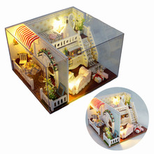 Miss Margaret's House DIY Dollhouse With Light Cover Miniatures Model Gift Collection Decor Toy Gift For Children Friend hoomeda 13828 the star dreaming house diy dollhouse with light music miniature model gift decor toy gift for friend children