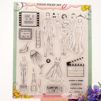 Scrapbook DIY You Are A Star 21 24CM ACRYLIC Clear STAMPS FOR PHOTO Timbri SCRAPBOOKING Stamp