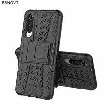 For Xiaomi Mi 9 SE Case Silicone Phone Holder Hard PC Anti-knock Bumper Cover BSNOVT