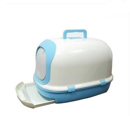 Двойной Cat Туалет бассейна закрытым большой Роскошные сосны кошачьих туалетов дом Тип чаша Размеры: 63*43*44 см