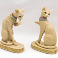 1 CÁI Tượng Đá Sa Thạch Tự Nhiên Tượng Ai Cập Mèo Thần Figurine Craft Bằng Đá Sa Thạch Trang Trí Trang Trí Nhà Món Quà Giáng Sinh 3