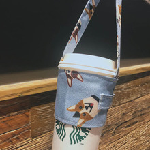 1 шт., сумка-переноска для чашки, чистый хлопок, скатерть стаканчик, чехол для молока, чая, сока, прекрасный, без запаха, маленький подарок, сумочка, чехлы для бутылок, Набор держателей
