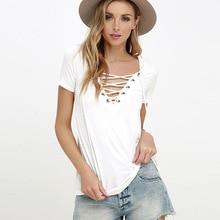 Fashion solid color women T-shirt 2017 new slim cozy v-neck sexy tshirt