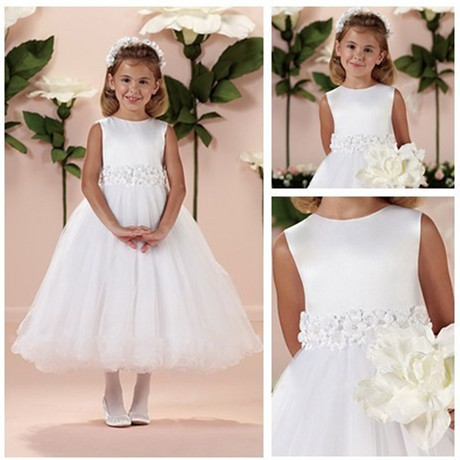 Pageant Gown First Communion Dresses 2017 Beautiful White Flower Appliques Flower Girl Dress for Wedding Kids Princess Dress mttuzb newborn baby photography props infant knit crochet costume boys girls photo props children knitted hat pants set