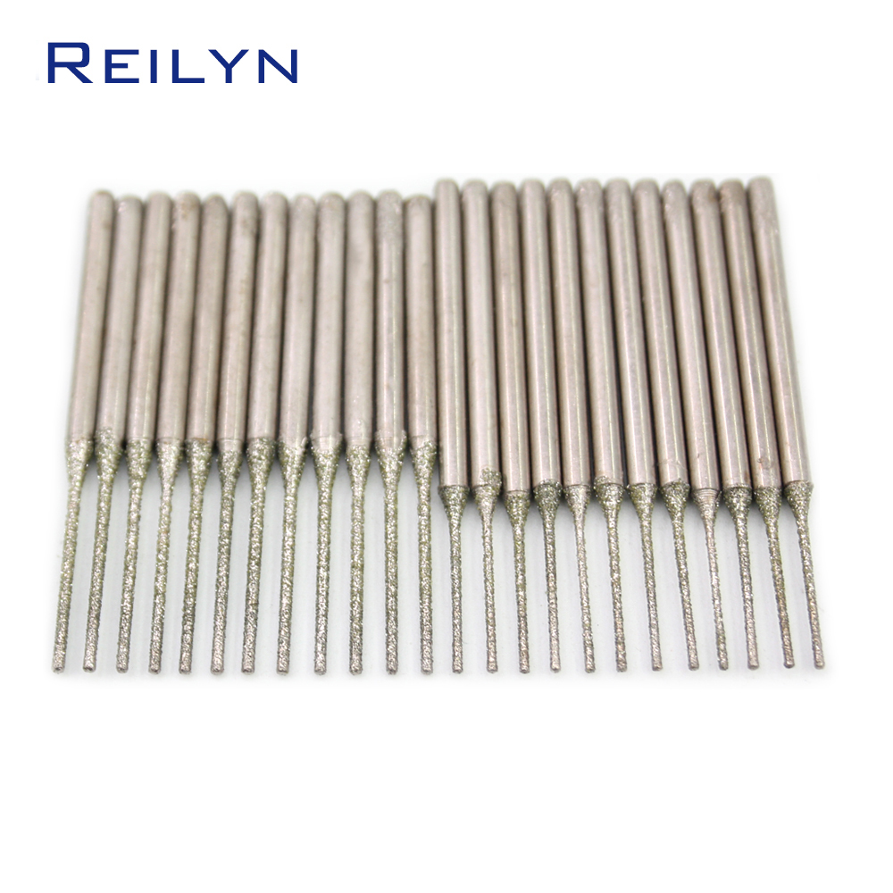 Ultra-long Diamond Drilling Bits Rough Grit Emery Diamond Abrasive Bits Peeling Needle A Type Teeth Grinding Burr For Dremel