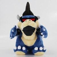 29 cm Azul Dos Desenhos Animados Plush Doll Toy Super Mario Bros Koopa Azul ware óculos 3D macio stuffed legal Koopa Bowser boneca de brinquedo para presente