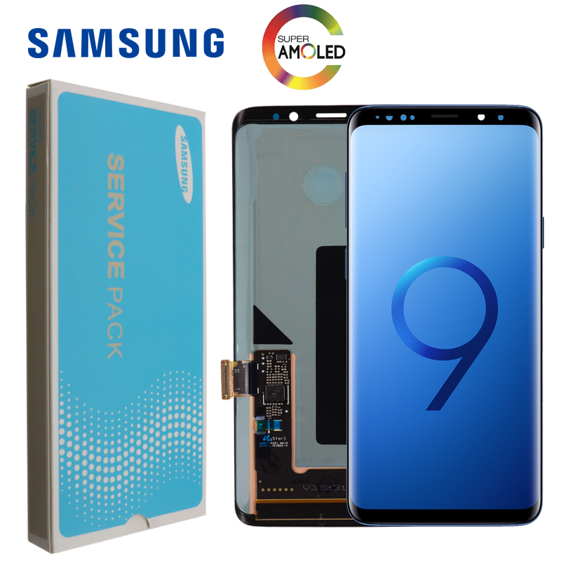100 ORIGINAL SUPER AMOLED Replacement for SAMSUNG Galaxy S9 LCD Touch Screen Digitizer with Frame S9