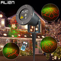 ALIEN Remote RG 8 Big Xmas Patterns Outdoor Waterproof Laser Projector Garden Holiday Christmas Tree Red Green Landscape Light