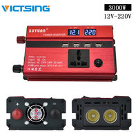 VicTsing Car Power Inverter 3000W DC 12V to AC 220V 4 USB Ports 1 Socket Power Inverter Charger 12V to 220V Auto Vehicle Power