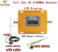 LCD Ekran!!! yeni Mini W-CDMA 2100 Mhz Sinyal Booster 3G Tekrarlayıcı WCDMA Sinyal Amplifikatör 3G hücresel sinyal booster + Antenler
